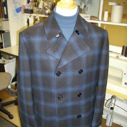 Scabal Double Faced Check Peacoat