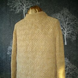 Contempory Hand Knitted Sweater from a 1950's Pattern