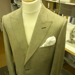 Brown Houndstooth Silk & Wool Sports Jacket
