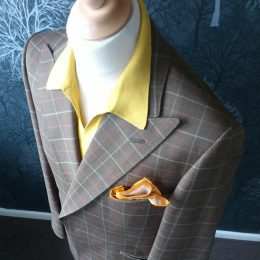 Pete William's Suit Prior To His Part In Dexy's 2013 Shows