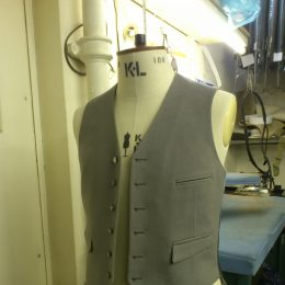 A Vest From H E Box's Wool Doeskin Range
