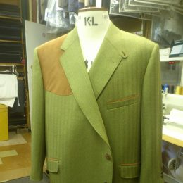 A Glenhunt Shooting Jacket With Alcantara Detail