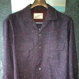 1950's Style Wool Shirt From Old Stock Cloth