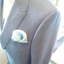 Powder Blue Silk & Mohair DB 1B 1Button Show
