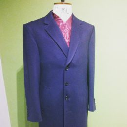 22oz Navy Wool Overcoat