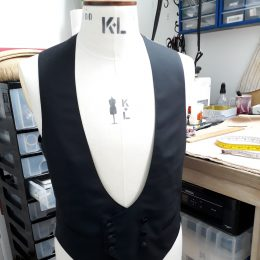 Super 100's Wool/Cashmere Waistcoat for Evening Dress