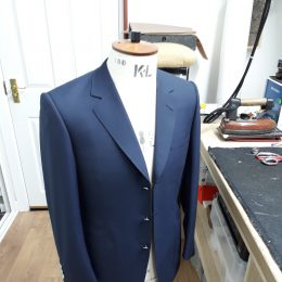 3 Btn Navy Cool Wool Blazer