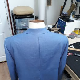 Irish Linen Sports Jacket Back Detail