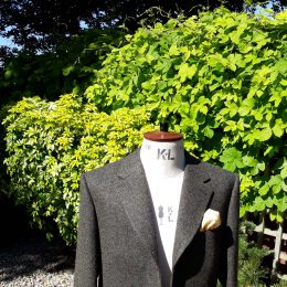 3 Btn Harris Tweed Jacket