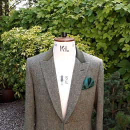 Donegal Tweed with Velvet Top Collar