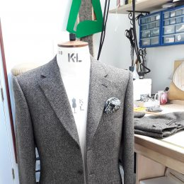 3 Btn Tweed jacket