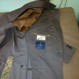 Brush Cotton Jacket, Half Lined with Full Cloth Facing