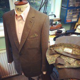 1B Brush Cotton Suit withLiberty Cotton Trim