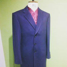 22oz Navy Wool Overcoat