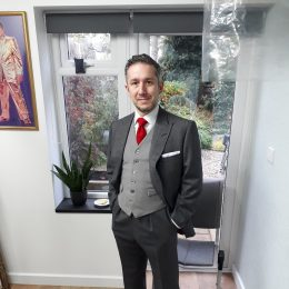 Grey Worsted Alsport 2 Piece Suit